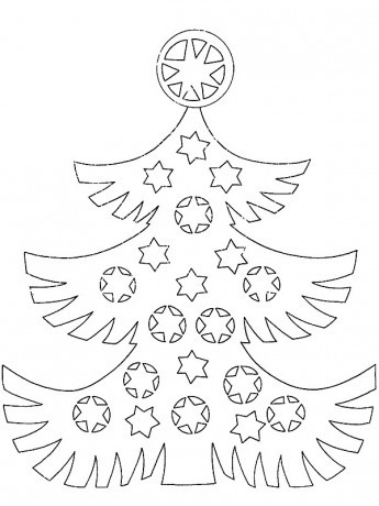 vánoční stromeček omalovánky